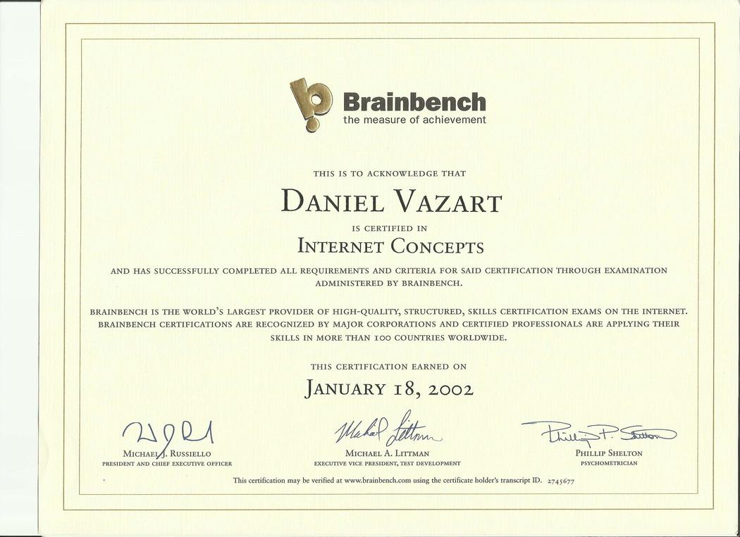 Brainbench: Internet Concepts