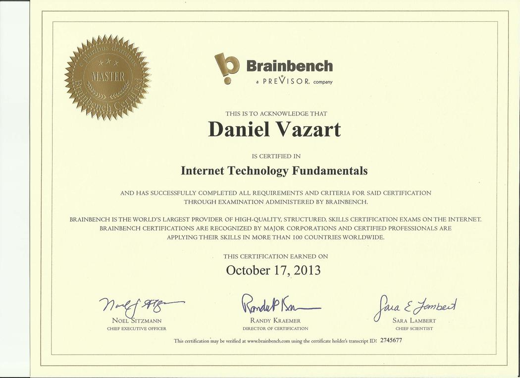 MASTER : Internet Technology Fundamentals