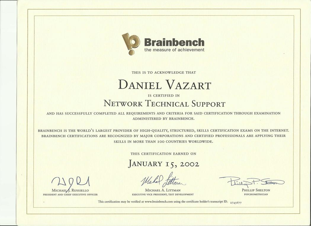 Brainbench: Network Technical Support