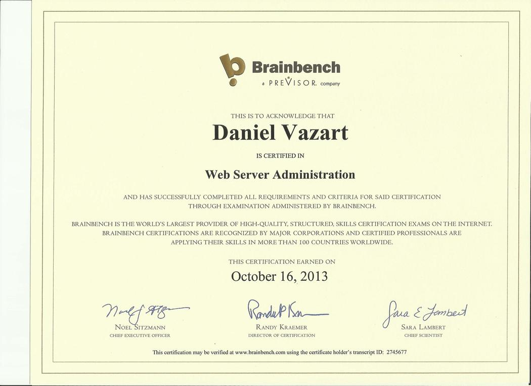 Brainbench: Web Server Administration